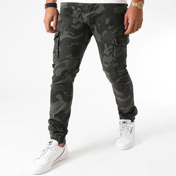 Frilivin - Jogger Pant 8716 Gris Anthracite Camouflage