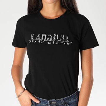 Kaporal - Tee Shirt Slim Femme Atik Noir