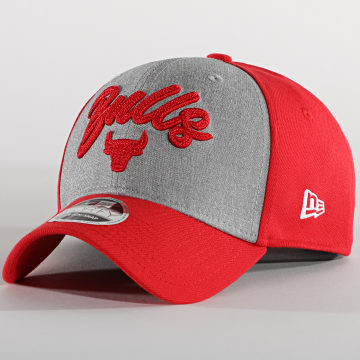 New Era - Casquette 9Forty Stretch Snap 60003042 Chicago Bulls Rouge Gris
