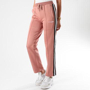 Sixth June - Pantalon Jogging Femme A Bandes M32575PPA Rose