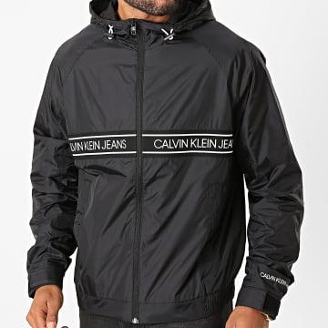 Calvin Klein - Veste Zippée Capuche A Bande 5676 Noir