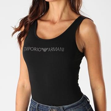 Emporio Armani - Body Débardeur Femme A Strass 164120-0A263 Noir