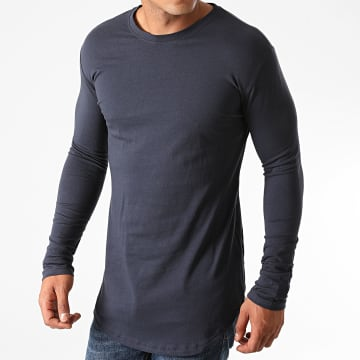 Frilivin - Tee Shirt Manches Longues Oversize 2091 Bleu Marine