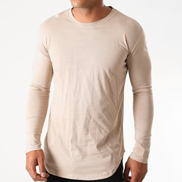 Frilivin - Tee Shirt Manches Longues Oversize 2091 Beige