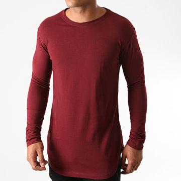 Frilivin - Tee Shirt Manches Longues Oversize 2091 Bordeaux