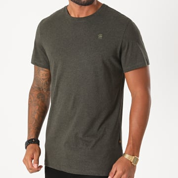 G-Star - Tee Shirt Base-S D16411-336 Gris Anthracite Chiné