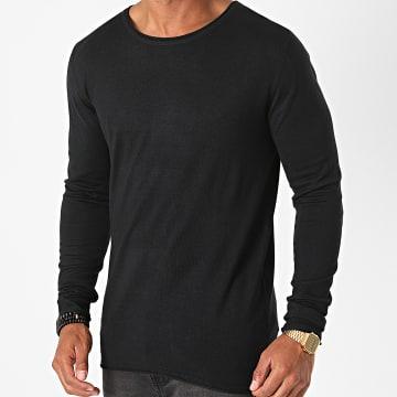 Indicode Jeans - Sweat Crewneck Middelfart Noir