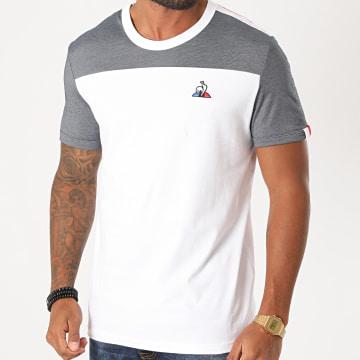 Le Coq Sportif - Tee Shirt Saison 1 N2 2020554 Blanc Bleu Marine