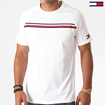 Tommy Sport - Tee Shirt Stripe 0515 Blanc