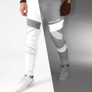 Project X - Pantalon Jogging 2040088 Blanc Réfléchissant