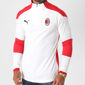 Puma - Tee Shirt De Sport Manches Longues AC Milan 758193 Blanc Rouge