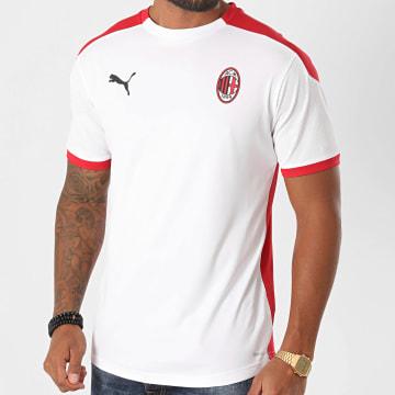 Puma - Tee Shirt De Sport AC Milan 758191 Blanc Rouge