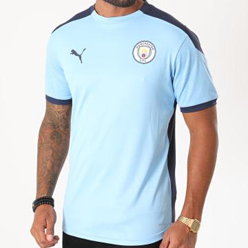 Puma - Tee Shirt De Sport Manchester City 757878 Bleu Clair Bleu Marine