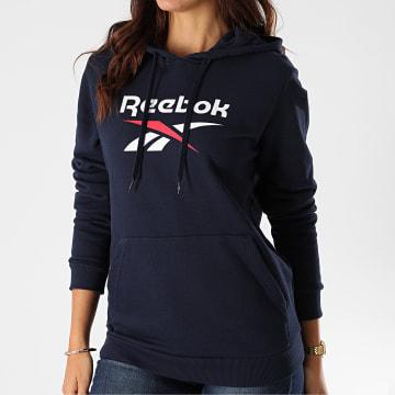 Reebok - Sweat Capuche Femme Classic Big Logo FT8188 Bleu Marine
