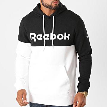 Reebok - Sweat Capuche Training Essentials FU3127 Blanc Noir