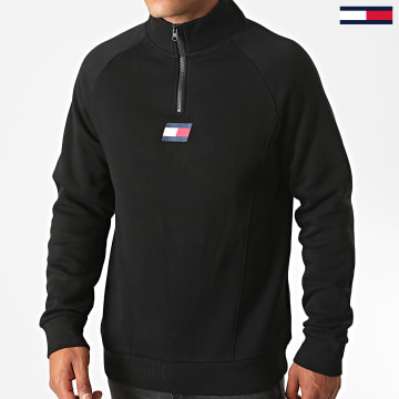 Tommy Sport - Sweat Col Zippé Fleece Mid Layer 0559 Noir