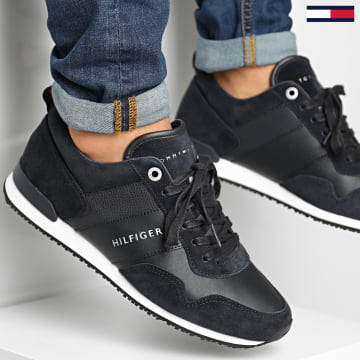 Tommy Hilfiger - Baskets Iconic Leather Suede Mix 0924 Midnight