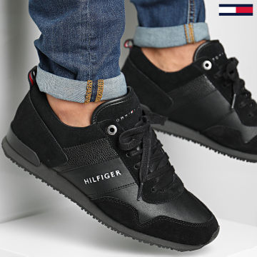 Tommy Hilfiger - Baskets Iconic Leather Suede Mix 0924 Black