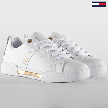 Tommy Hilfiger - Baskets Femme Branded Outsole Strappy 5217 White