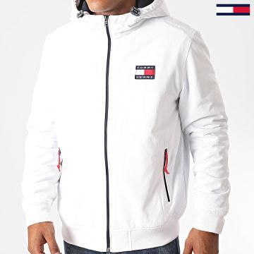 Tommy Jeans - Veste Zippée Capuche Padded Nylon 8460 Blanc