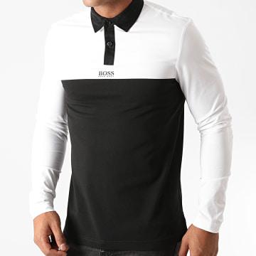 BOSS - Polo Manches Longues Plisy 1 Blanc Noir