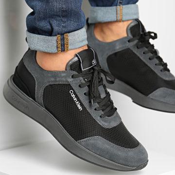 Calvin Klein - Baskets Delbert 2 Low Top Lace Up B4F4509 Grey Black