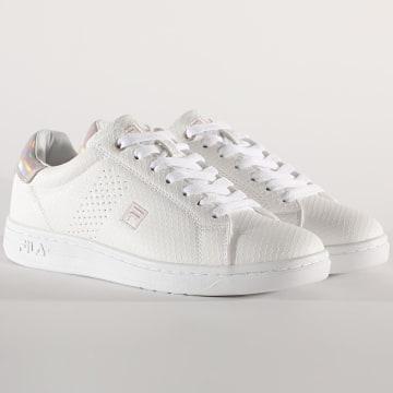 Fila - Baskets Femme Crosscourt 2 Low 1010776 White Sepia Rose