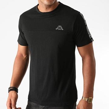 Kappa - Tee Shirt Slim A Bandes Itap Noir
