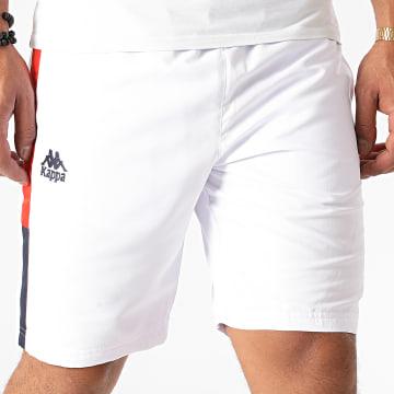 Kappa - Short Jogging A Bandes Ivabien 3112E4W Blanc