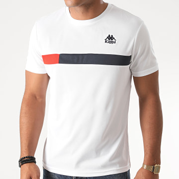 Kappa - Tee Shirt Slim Impro Blanc