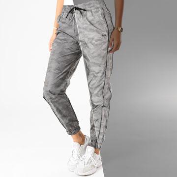 Project X - Pantalon Jogging Femme F204089 Gris Réfléchissant Camouflage