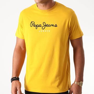 Pepe Jeans - Tee Shirt Eggo Jaune Moutarde