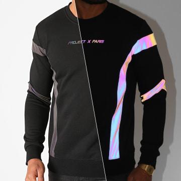 Project X - Sweat Crewneck 2020082 Noir Réfléchissant Iridescent