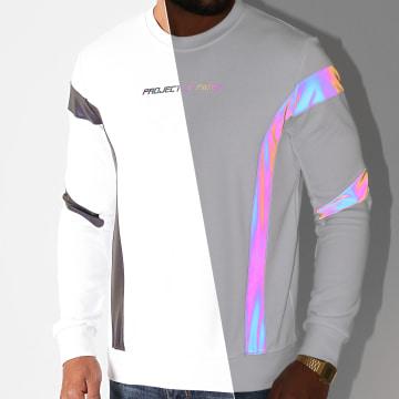 Project X - Sweat Crewneck 2020082 Blanc Réfléchissant Iridescent