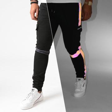 Project X - Pantalon Jogging A Bandes 2040082 Noir Réfléchissant Iridescent