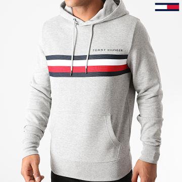 Tommy Hilfiger - Sweat Capuche Logo 4542 Gris Chiné