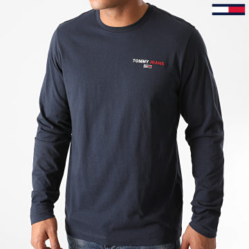 Tommy Jeans - Tee Shirt Manches Longues Corp 9402 Bleu Marine