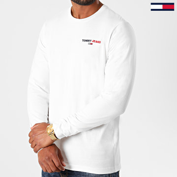 Tommy Jeans - Tee Shirt Manches Longues Corp 9402 Blanc