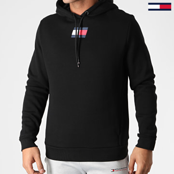 Tommy Sport - Sweat Capuche Flag Fleece 0558 Noir