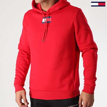 Tommy Sport - Sweat Capuche Flag Fleece 0558 Rouge