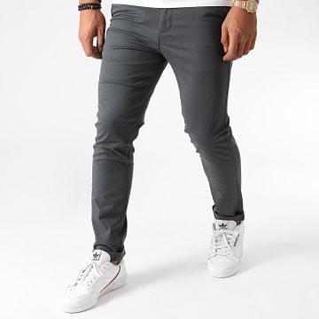 Jack And Jones - Pantalon Chino Slim Marco Dave Gris Anthracite