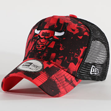 New Era - Casquette Trucker Error Print 12490128 Chicago Bulls Rouge
