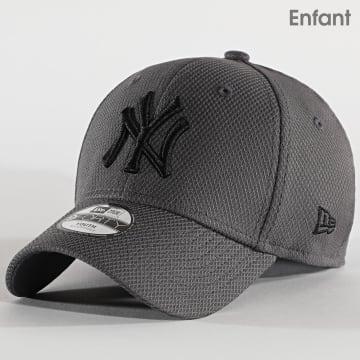 New Era - Casquette Enfant 9Forty Diamond Era 12513982 New York Yankees Gris