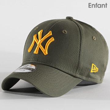 New Era - Casquette Enfant 9Forty League Essential 12513996 New York Yankees Vert Kaki