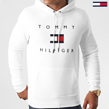 Tommy Hilfiger - Sweat Capuche Tommy Flag 4203 Blanc