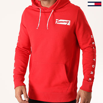 Tommy Jeans - Sweat Capuche Essential Graphic 8406 Rouge
