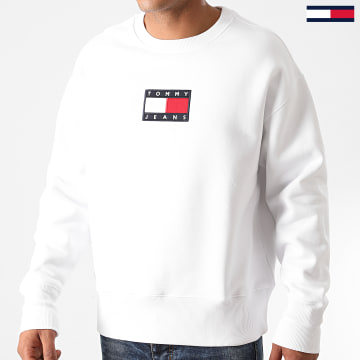 Tommy Jeans - Sweat Crewneck Small Flag 8488 Blanc