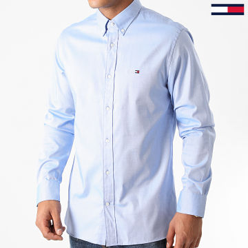 Tommy Hilfiger - Chemise Manches Longues 2 MB Stretch Oxford 8304 Bleu Clair