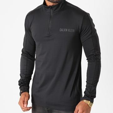 Calvin Klein - Tee Shirt Manches Longues Col Zippé GMF0K255 Noir