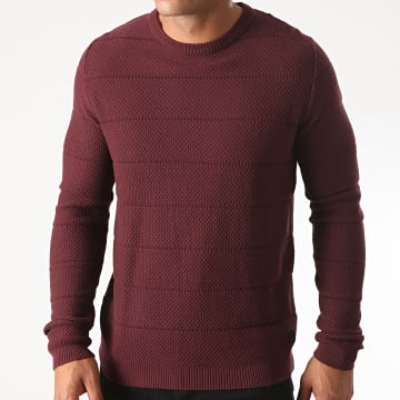 Jack And Jones - Pull Snow Bordeaux